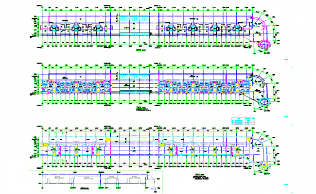 Terrace floor hotel plan detail autocad dwg file