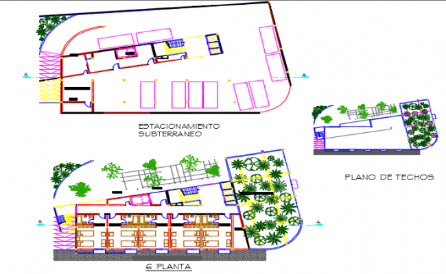 Terrace floor hotel plan detail dwg file