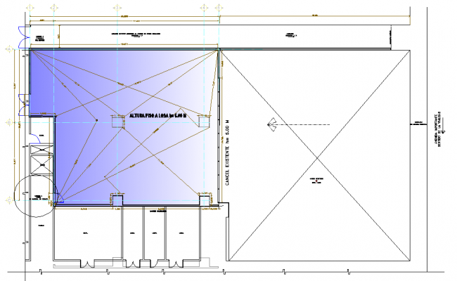 Terrace floor plan detail
