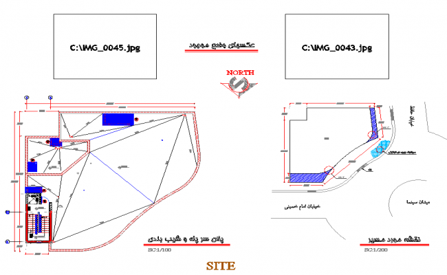 Terrace plan detail dwg file