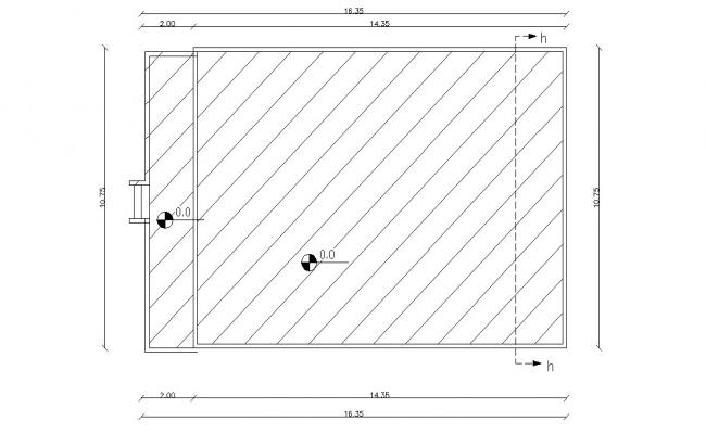 Terrace Floor Plan With Dimension AutoCAD File