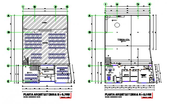 Terres plan detail dwg file
