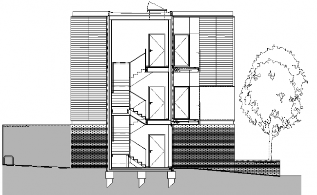 The Architecture Design and Plan of Bungalow dwg file