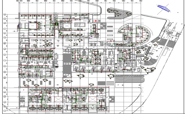 The Architecture Design of Hospital dwg file