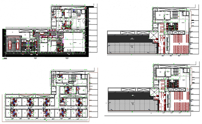 The Architecture Hotel plan dwg file