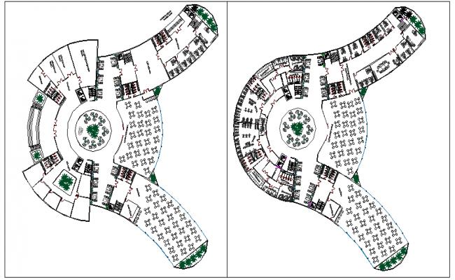Architecture layout plan autocad file