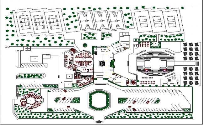 Architecture layout plan of hotel
