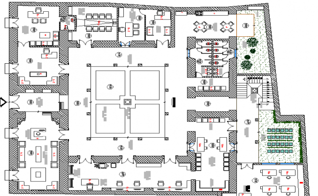 The Architecture Design of School and Structure Details dwg file