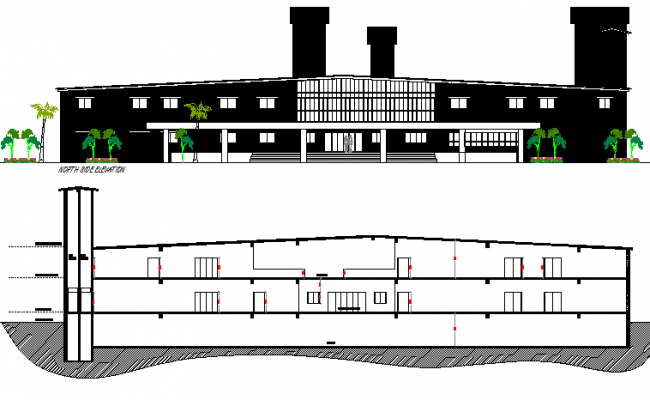 The Architecture Layout of Beach Resort dwg file