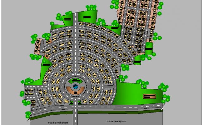 The Architecture Layout of Gurukul School 3d Design dwg file