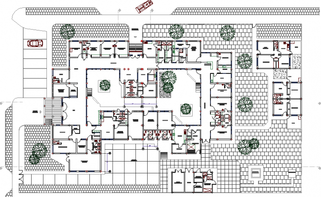 The Architecture Layout of Health Center dwg file