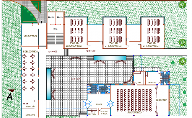 The Architecture Layout of University Structure Details dwg file