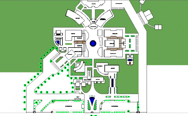 The Architecture Project of General Hospital dwg file