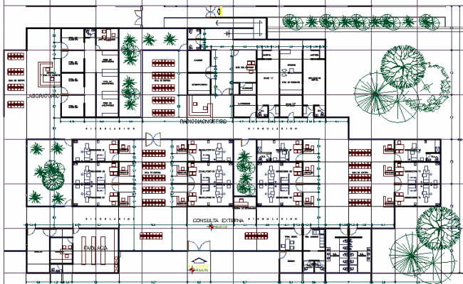 The Architecture Project of Hospital Unit dwg file