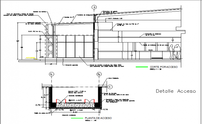 The architecture project of corporate office dwg file