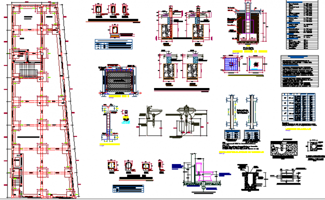 Beam and Foundation design dwg file
