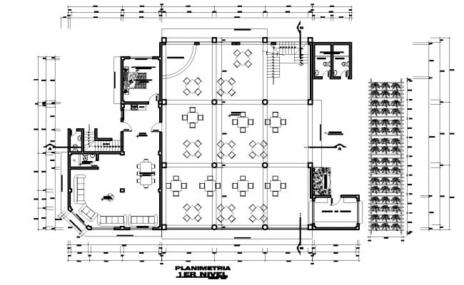 The layout of first-floor hosing plan detail detail dwg file,