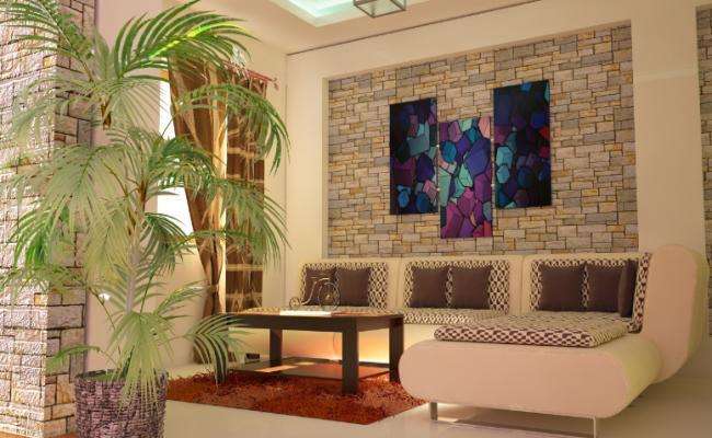 The modern interior scene