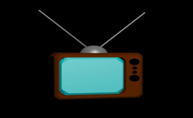 The vintage tv model