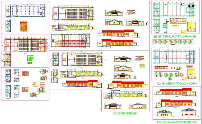 Theater architecture cad drawing
