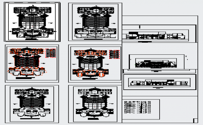 Theater design with 1500 seats design drawing
