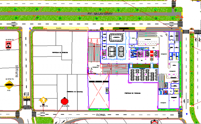 Third plan layout details of offices of unique dwg file
