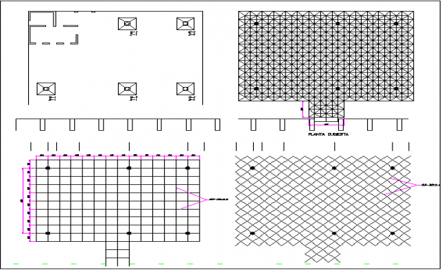 Three Dimensional Structure of Hospital dwg file