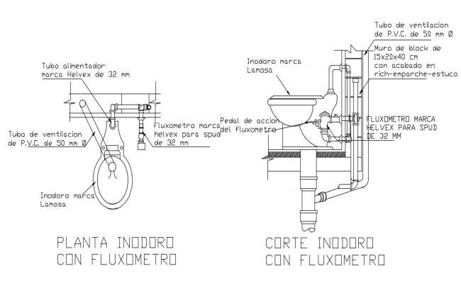 Toilet Closet Designs CAD Block