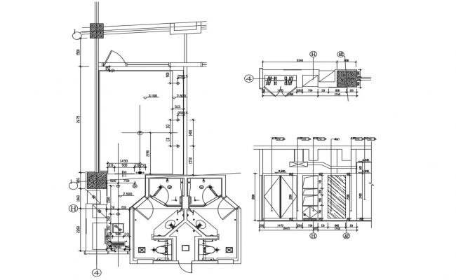 Toilet Construction Drawing AutoCAD File Free