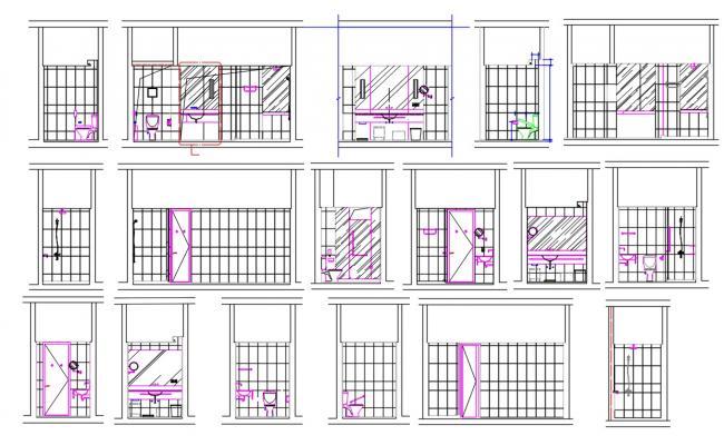 Toilet Elevation Design AutoCAD File