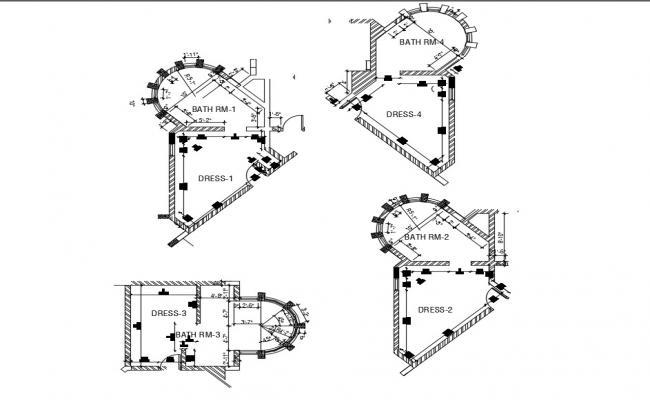 Toilet Layout Plan CAD File Free