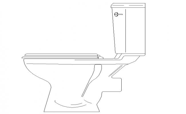 Toilet Side Elevation Design Block