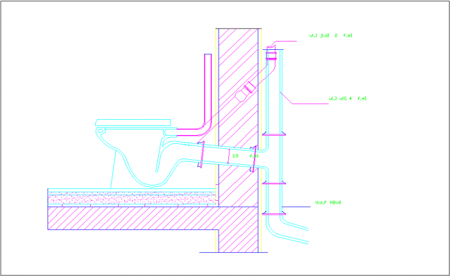 Section Elevation Plan View : Toilet cupboard section view detail information with