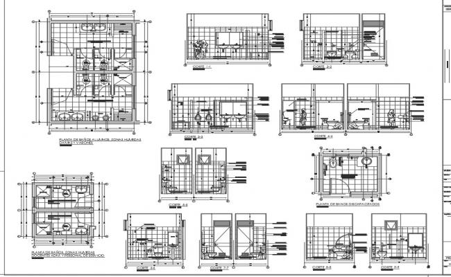 Toilet plan, elevation and section working plan detail dwg file