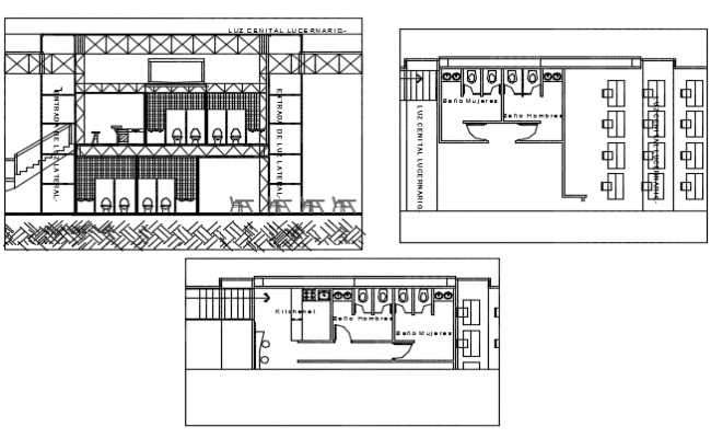 Toilet plan and elevation detail dwg file