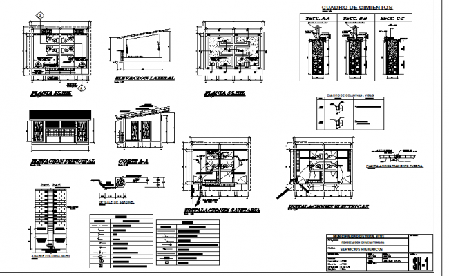 Toilet plan detail and electrical plan detail dwg file