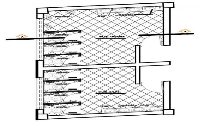Toilet plan detail dwg file