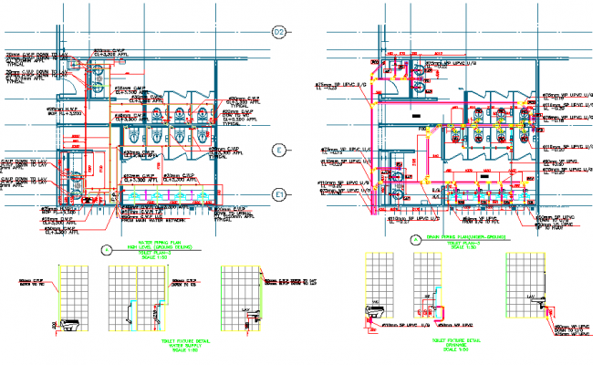 Toilet plan dwg file