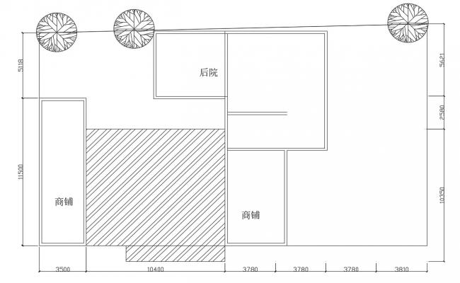 Top Floor Plan Of House With Plot AutoCAD File Free Download