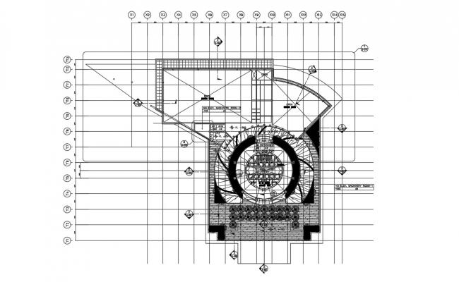 Top View of Corporate Building DWG File
