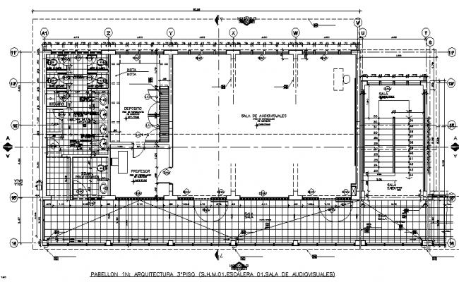 Top floor layout plan dwg file