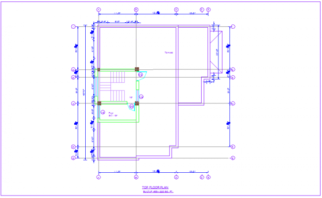 Top floor plan of house dwg file