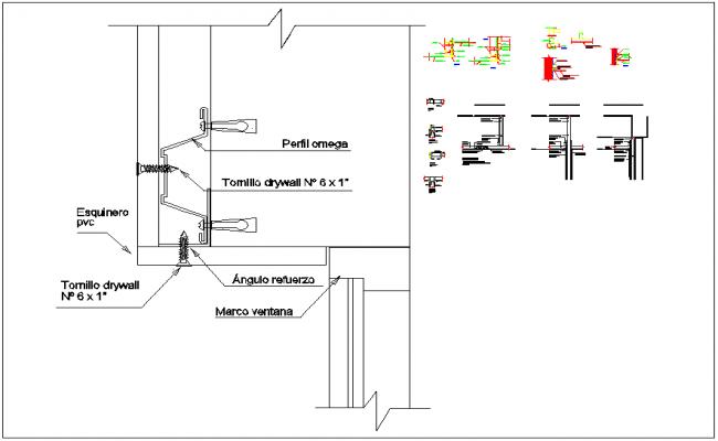 Top lintel door section dwg files