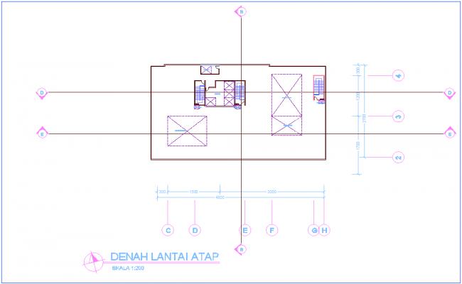 Top plan of office floor plan dwg file