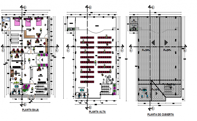 Top to bottom floor center line plan detail dwg file