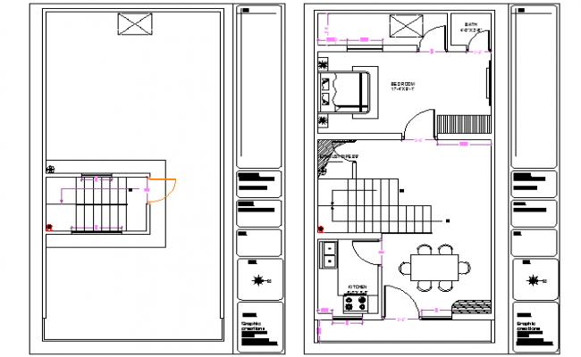 Top view architectural plan details