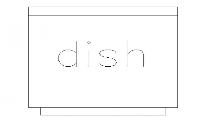 Top view dish plan