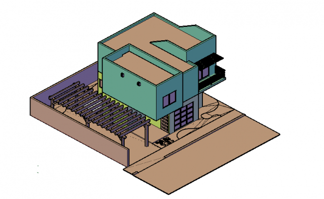 Top view layout elevation of bungalow