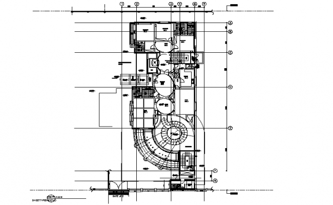 Top view layout plan of building