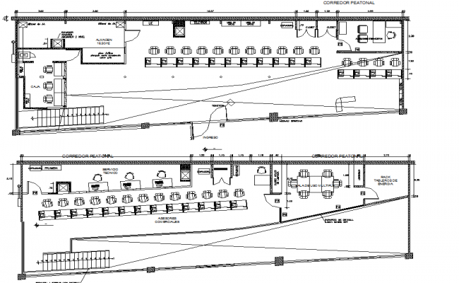 Top view layout plan of shopping complex dwg file